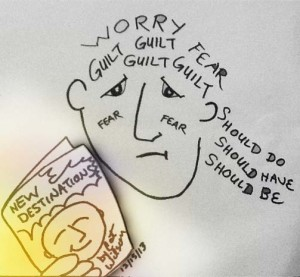 Guilt and Worry Cartoon