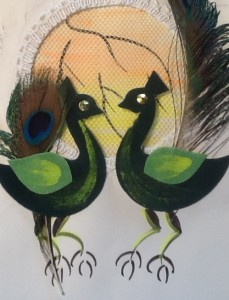 Cat Wilson's Peacock card