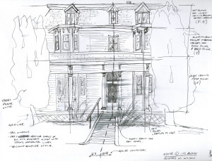 Victorian House Sketch by Richard H. Wilson