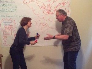 Cat Wilson and Ken Iverson in StoryDraw class