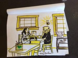 How do women talk to women? - Sketch by Cat Wilson