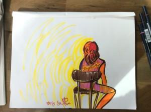 Supermom - Sketch by Cat Wilson