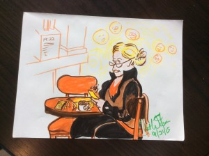Cafe Sketch by Cat Wilson